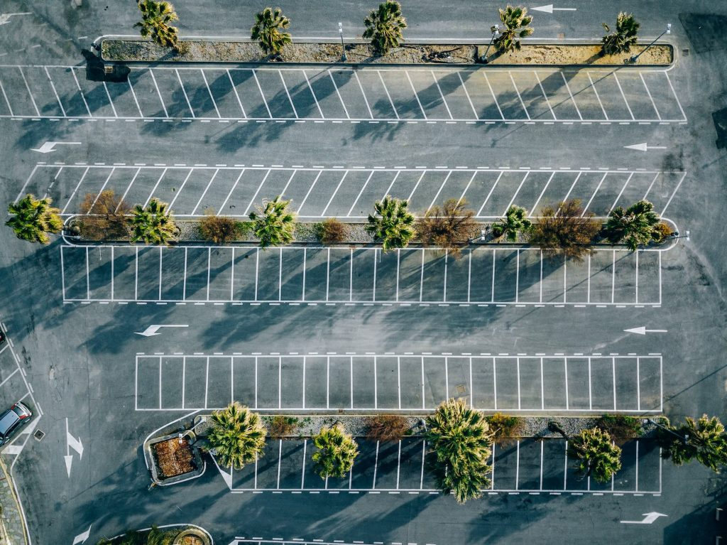 restriped parking lot Parking Lots